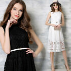 Women's Lady Sexy Lace Sleeveless Party Evening Dresses Summer Cocktail Casual