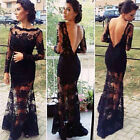 1pc Women Sexy Lace Backless Evening Party Cocktail Clubwear Long Dress Hot !!!