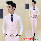 Fashion Men Casual Suit Vest Slim Dress Formal Waistcoat Business Jacket Coat