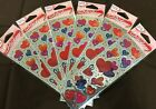 Lot of 6 - 19 - Pack Valentine Heart Foil Kid Party Scrapbook Stickers New #DK