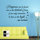 ALBUS DUMBLEDORE QUOTES HAPPINESS -  HARRY POTTER Vinyl Wall Sticker , Decal