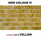 BRICK SLIPS CLADDING WALL TILES FLEXIBLE ( Pack of 60 )  YELLOW COLOUR