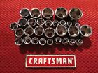 Craftsman - 3/8 Drive 6 Point Sockets - Metric And Sae - Choose Size - New