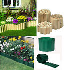GREEN PLASTIC GARDEN GRASS LAWN EDGE EDGING BORDER FENCE WALL DRIVEWAY ROLL PATH
