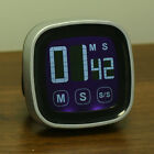 LCD Touch Screen Kitchen Timer Egg Magnetic  Countdown Count UP Alarm Clock
