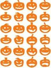 24 Halloween pumpkin Stickers, lots of colours, decoration, party