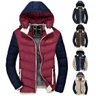 New Men's jackets hooded thick coat padded jacket Outerwear Tops detachable cap