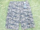 Olive Army Green Camouflage cargo shorts green Camouflage cargo shorts W32-44