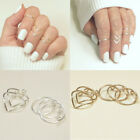 5pcs/set Hot Mid Midi Above Knuckle Ring Band Gold Silver Tip Finger Stacking