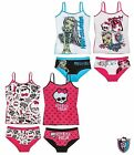Monster High Underwear Set Girls Vest Pants Briefs Knickers 8 10 12 14 Official