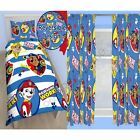 "PAW PATROL PAWSOME SINGLE ROTARY DUVET SET + CHOICE OF 54"" & 72"" CURTAINS KIDS"