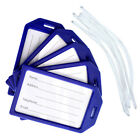 "5 Pack of Premium Hard Plastic Luggage Tags with 6"" Worm Loops -by Specialist ID"