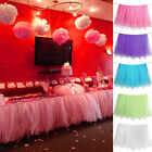 Tulle Table Skirt Princess Ballerina Party Baby Shower Wedding Table Tutu Cover