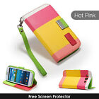 STAND WALLET LEATHER CASE COVER FOR SAMSUNG GALAXY S3 I9300 SCREEN PROTECTOR