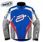 ARCTIVA Men's Blue Red Camo COMP 7 INSULATED Winter Snowmobile Jacket