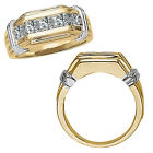 0.75 Carat G-H Diamond Channel Mens Groom Ring 14K White Yellow Two Tone Gold