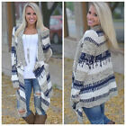Casual Women's Cardigan Long Sleeve Smooth Sweater Outwear Loose Jacket Coat MYY