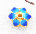 6x8mm cloisonne beads Buddhist lotus character Jewelry accessories gifts #48