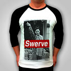 Mens Rare tee TattooSWAG Swerve 3/4 Long T SHIRT girls DOPE trendy womens top