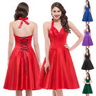 CHEAP Womens Blue Red 50s Vintage Pinup Party Prom Swing Dresses S-XL