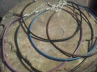Elephant bronze or silver leather cord tibetan style charm retro hippy choker