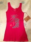 TRUE RELIGION T Shirt Tank Top GRAPHIC Fuschia Pink NEW