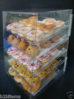 DS-Acrylic Pastry Bakery Donuts Bagels Cookie Display Case w/trays CUPCAKE
