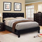 Mantua Modern Style Black Finish Leatherette Bed Frame Set