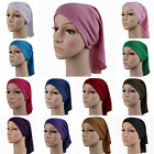 Women's Muslim Hijab Inner Caps Turban Bonnet Islamic Headwrap Underscarf Colors