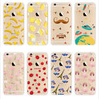 Soft TPU Silicone Rubber Painted Back Case Cover for Apple iPhone 5 SE 6 6s Plus