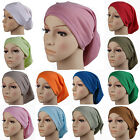 Soft Moel Muslim Women's Hijab Caps Islamic Inner Hats Turban Bone Bonnet Colors
