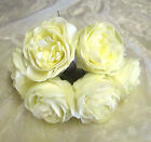 ARTIFICIAL FOAM PEONY ROSE Lemon WEDDING FLOWERS COLOUR FAST x 6 per bunch