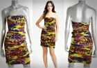 DIANE VON FURSTENBERG $385 Lelette Silk Ruched Tube Dress Sz 6/8 NEW
