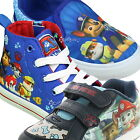 Boys Paw Patrol Canvas Velcro Trainers Shoe Sizes 5-13 Kids Girls New Gift