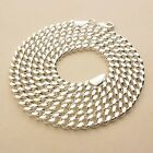"""7MM WIDTH 925 STERLING SILVER EP CUBAN CHAIN NECKLACE 18.5"""",  20"""" , 24"""" INCH"""