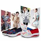 Hot Women's High Top Casual Canvas Sneaker Breathable Running Platform Shoes S