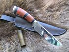 AWESOME RUSSIAN HUNTING KNIFE, D2 STEEL BLADE, CUSTOME HANDMADE, FIXED BLADE