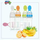 Baby Silicone Squeezing Feeding Spoon Safe Food Supplement Feeder Spoon