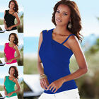 Women Summer Tops Off Shoulder T-Shirt Sleeveless Casual Strap Blouse Fashion