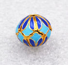 14x14mm cloisonne beads  Flower Tibet amulets Jewelry accessories gifts #20