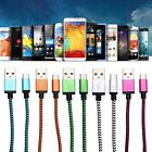 New Braided Aluminum Micro USB Data&Sync Charger Cable For Android Phone 1/2/3M
