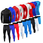 Mens Sports Exercise Compression Shirts Pants Gym Workout Base Layers Tights