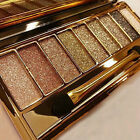 9 colors shimmer eyeshadow eye shadow palette makeup cosmetic brush set new