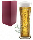 Personalised 1 Pint CARLSBERG Branded Beer Glass Father Bride Wedding Gift