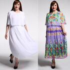 L-7XL plus size women's long dress chiffon summer beach everyday Casual Dresses