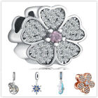 New European 925 Silver Cz Charm Beads Fit Sterling Necklace Bracelet Chain
