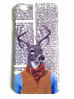iPhone Cover 7 6 6S 5 SE 5C 5S Stag Head Tweed Dictionary Print Phone Case Funky