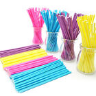 100 Pcs/Set Colorful Lollipop Sticks Cake Pop Sticks for Candy Chocolate 10cm LA