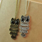 Fashion Retro Owl With Big Eye Pendant Necklace Sweater Long Chain Great Gift CA