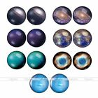 Starry Sky 16G Steel Look 0G Fake Cheater Barbell Plug Ear Stud Earring Piercing